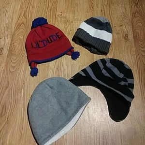 Other - Lot of 4 Boys Winter Hats One Size /Small